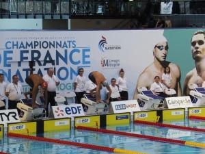 Barrage entre Jordan Pothain et Marvin Maisonneuve sur 100m papillon (Limoges 2015)